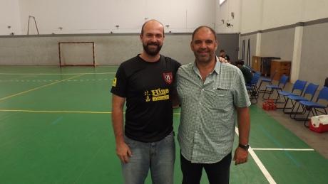 Lucas Leonardo, diretor da LDHP e Antonio Antunéz Medina, diretor técnico da Federación Extremeña de Balonmano